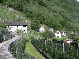 Village of Maggia in the Maggia Valley, Ticino, Switzerland
